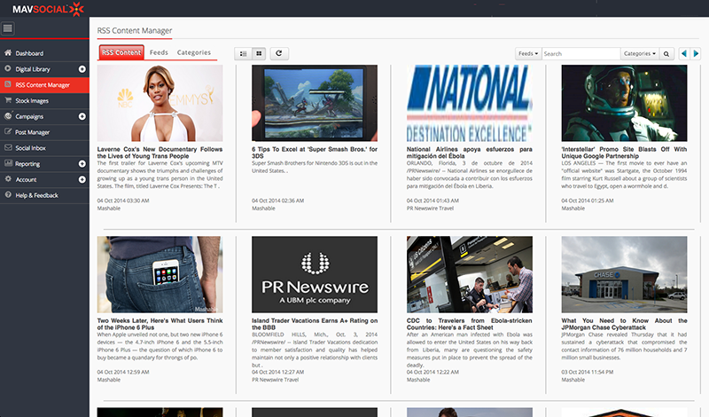 MavSocial-RSS-reading-and-posting-screenshot-